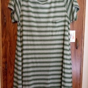 NWT Lularoe sz 2xl Green Stripe Carly